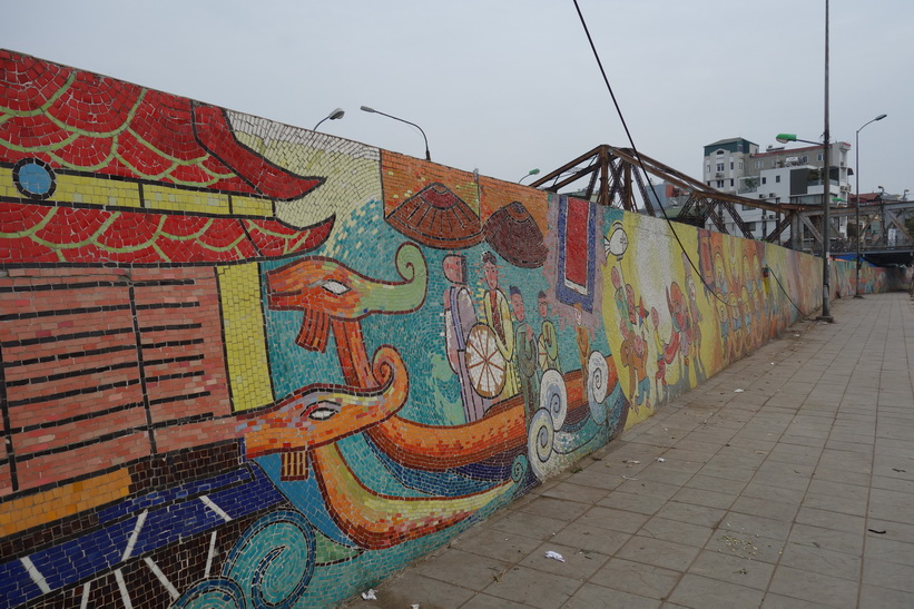 Long Biên. Bron som amerikanerna bombade många gånger under kriget, Hanoi.