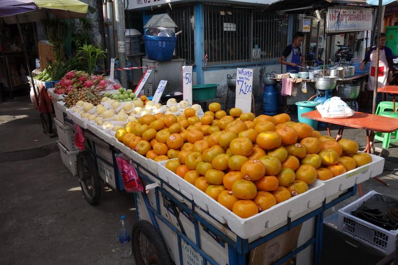 Fruktmarknad i Chinatown, Bangkok.