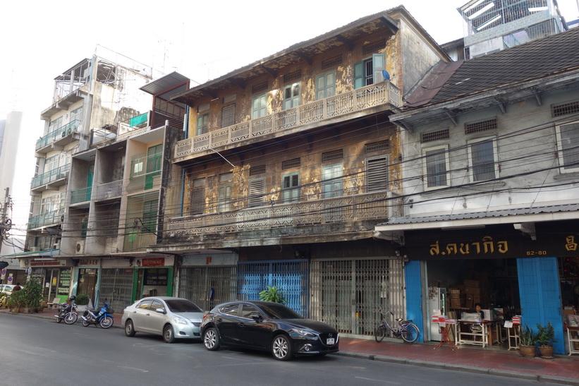 Intressant arkitektur, Chinatown, Bangkok.