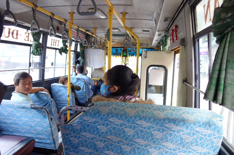 På bussen från Da Nang till Hoi An.