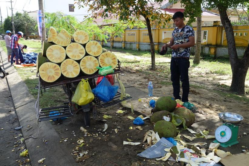 Jackfruit-försäljare i Hoi An.