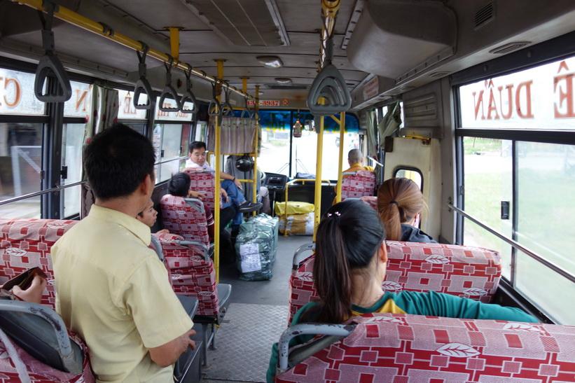 På väg tillbaka hem till Da Nang med bussen från Hoi An.