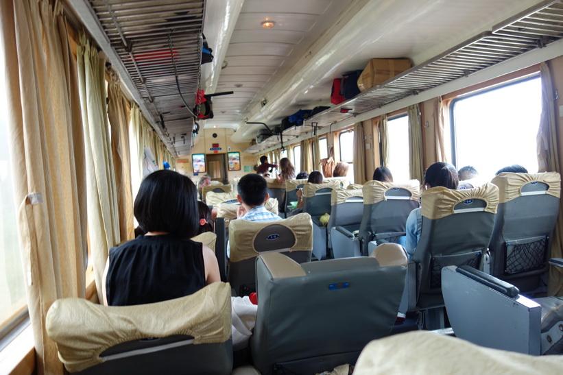 På tåget mellan Da Nang och Hue.