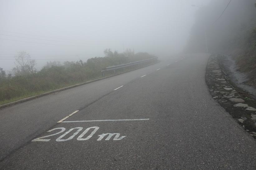 Här börjar jag närma mig toppen. Vägen upp till Son Tra Mountain (Monkey Mountain), Da Nang.