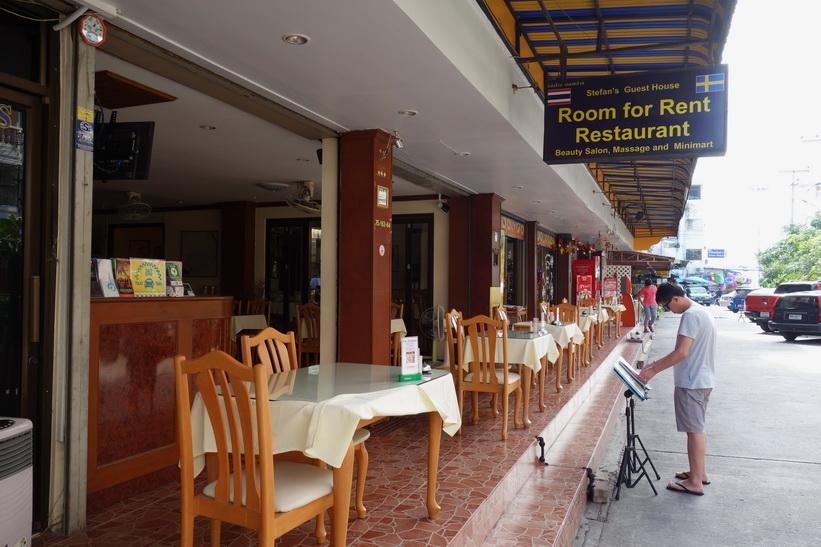 Svenskt guesthouse med restaurang, Jomtien, Pattaya.