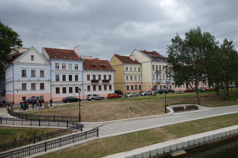 Gamla staden (Troitskoye) från Island of Tears, Minsk.