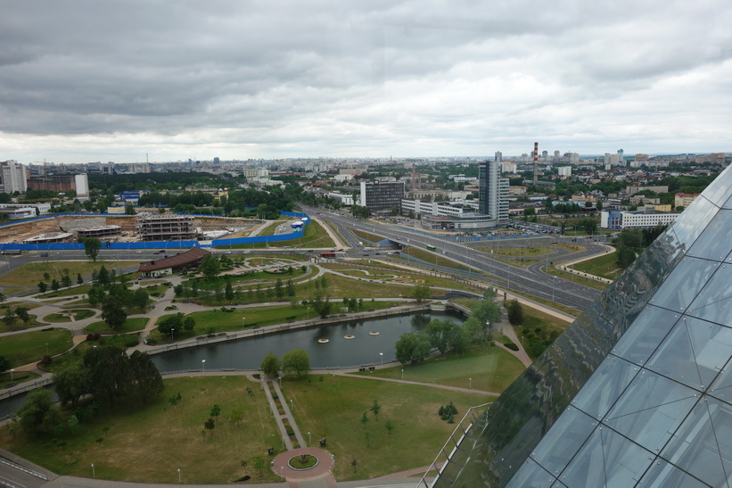 Foto från observation deck, National Library of Belarus, Minsk.
